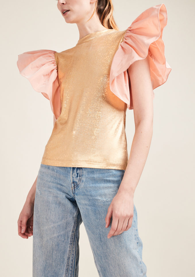 STEPHAN JANSON - Jersey top with puffed sleeves