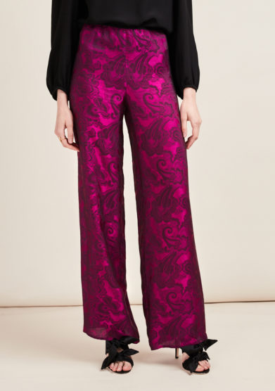 STEPHAN JANSON - Printed wide-leg trousers