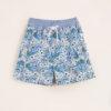 MAGHI E MACI - Boy's cotton blue paisley print swimshorts