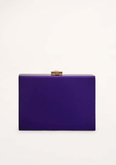 VIRGINIA SEVERINI - Cleo purple wood clutch