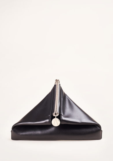 SIMONE RAINER - Leather triangular clutch