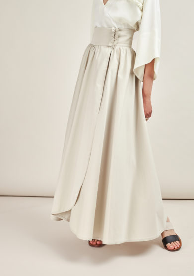 CAFTANII FIRENZE - Kimi sand cotton skirt