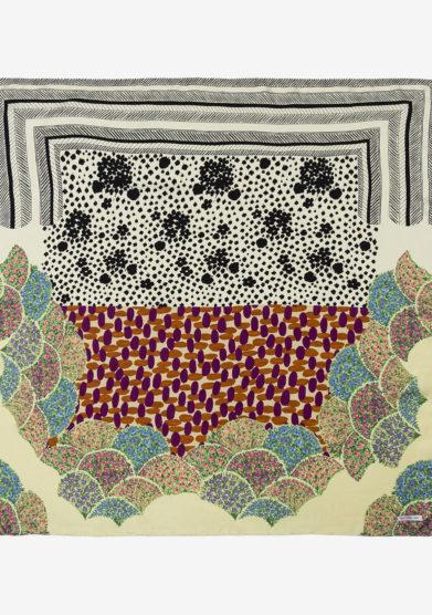 MANTERO - Classic carrè Twofold cream scarf