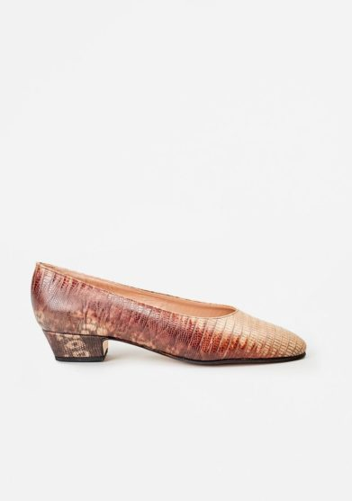 TARCIO - Printed leather pumps