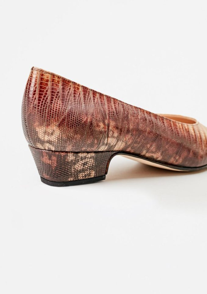 TARCIO - Printed leather pumps