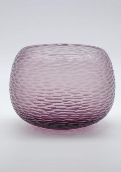 MICHELUZZI GLASS - Amethyst Puffo vase