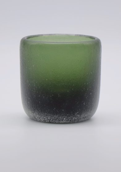 MICHELUZZI GLASS - Sage green Rullo vase