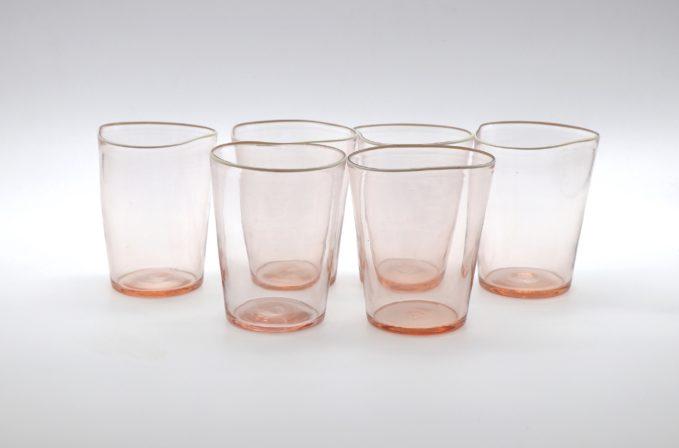 MICHELUZZI GLASS - Mosso rosè glasses (set of 6)