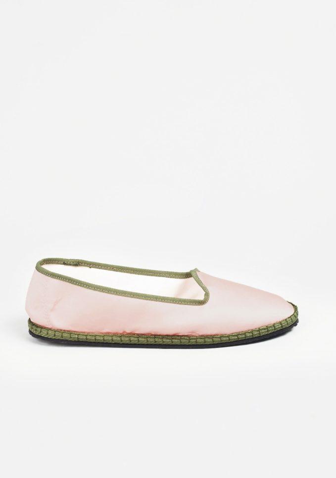Vibi Venezia furlane Georgina seta mikado rosa scarpe basse