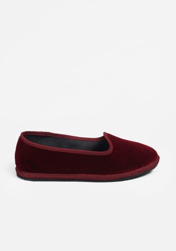 Vibi venezia scarpe furlane velluto bordeaux