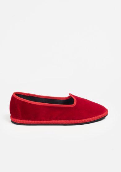 Scarpe basse vibi venezia furlane velluto rosse