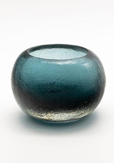 Micheluzzi glass vaso bocca blu oceano piccolo