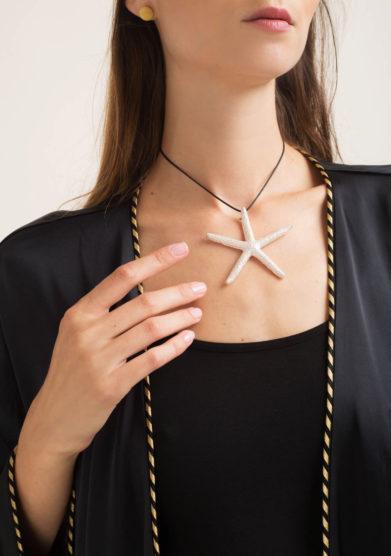 RR ORAFI - Ciondolo stella marina in argento