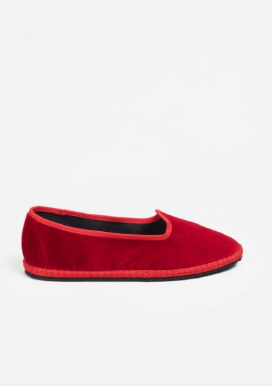 VIBI VENEZIA - Furlane in velluto rosso