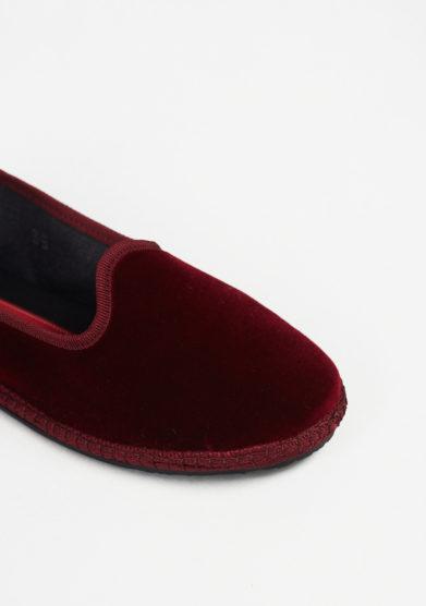 VIBI VENEZIA - Burgundy velvet loafers