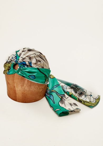 MARZOLINE - Printed silk turban