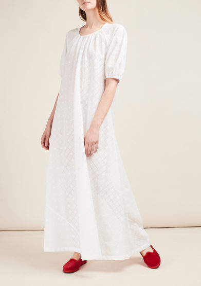 LORETTA CAPONI - Broderie anglaise dress