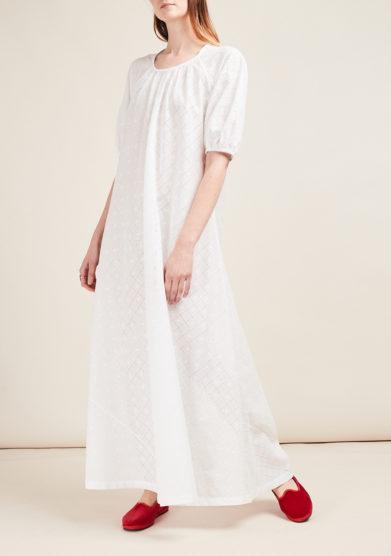 LORETTA CAPONI - Broderie anglaise dress