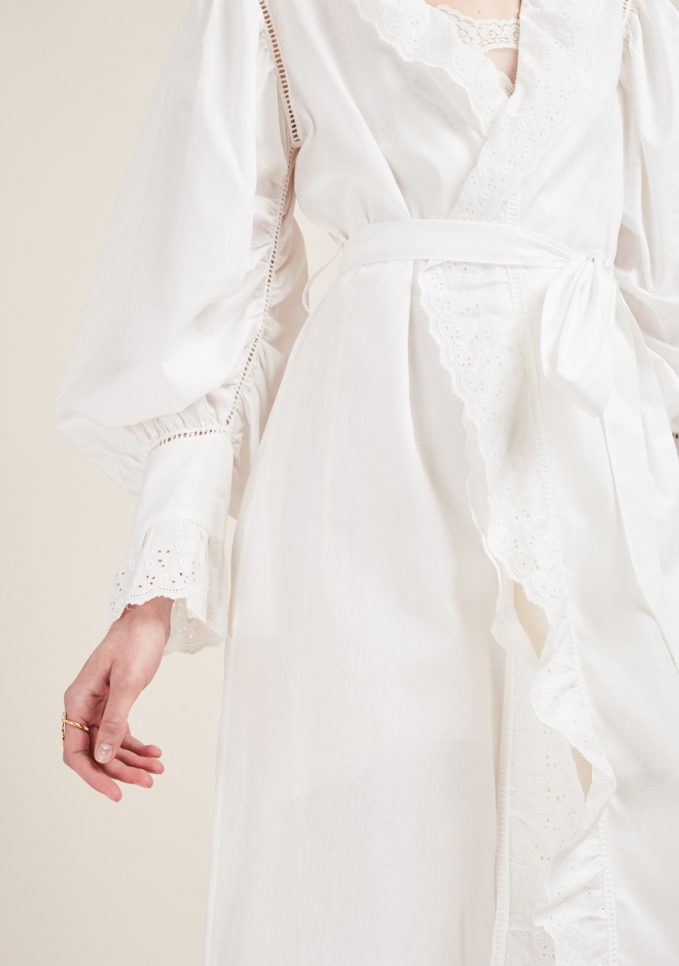 LORETTA CAPONI - Broderie anglaise night-gown