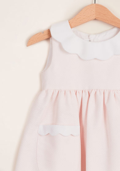 BARONI - Girl's pink cherry petal dress