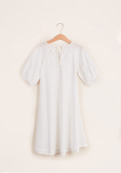 LORETTA CAPONI - Girl's broderie anglaise dress