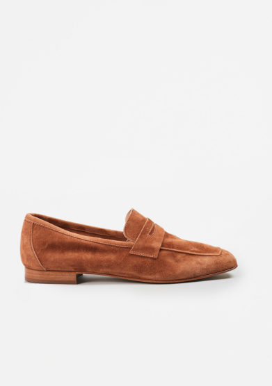 SITÓN - Brown suede loafers