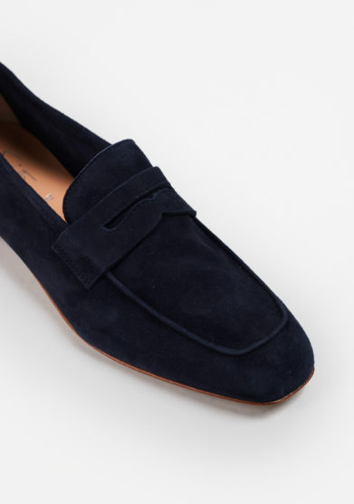SITÓN - Blue suede loafers