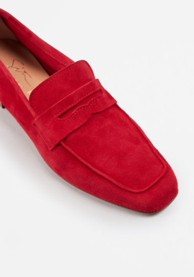 SITÓN - Red suede loafers