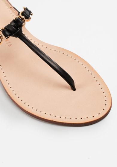 PAOLA FIORENZA - Black leather sandals