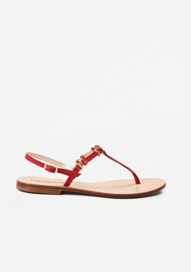PAOLA FIORENZA - Red leather sandals