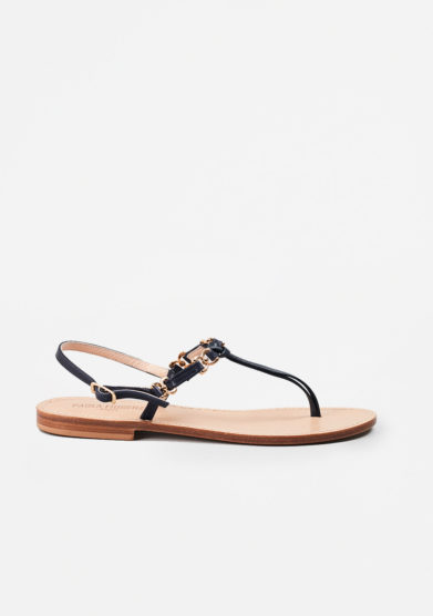 PAOLA FIORENZA - Blue leather sandals