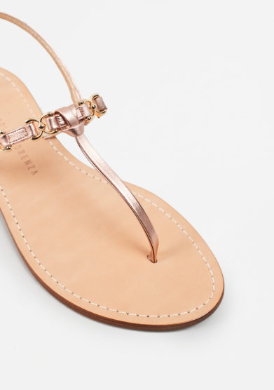 PAOLA FIORENZA - Copper leather sandals