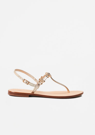 PAOLA FIORENZA - Gold leather sandals