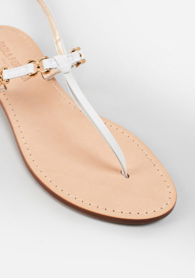 PAOLA FIORENZA - White leather sandals