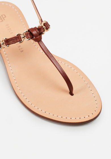 PAOLA FIORENZA - Brown leather sandals