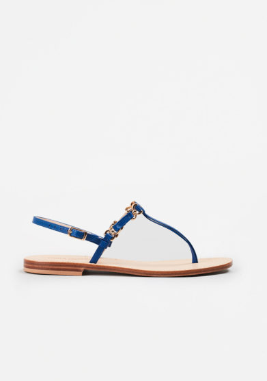 PAOLA FIORENZA - Electric blue leather sandals