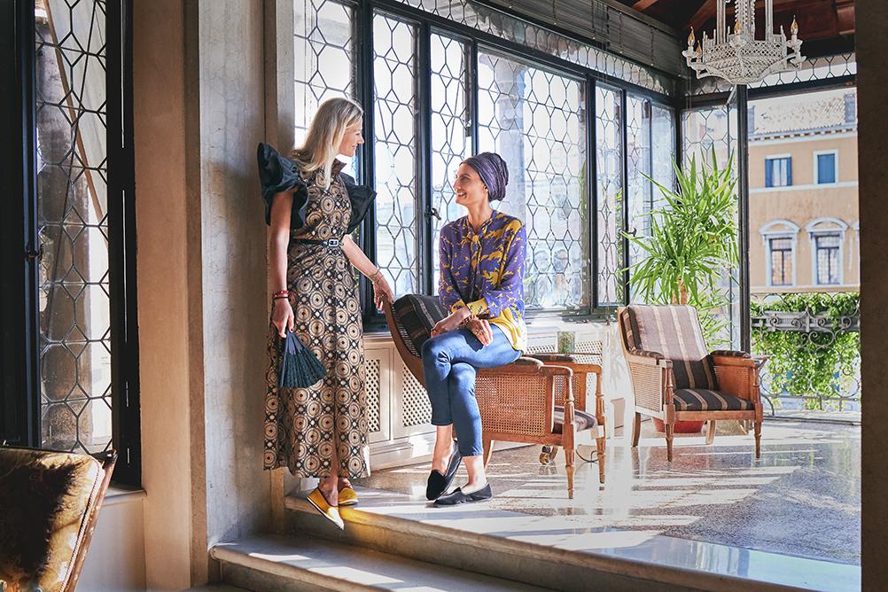 Helen Nonini and Servanne Giol in Venice