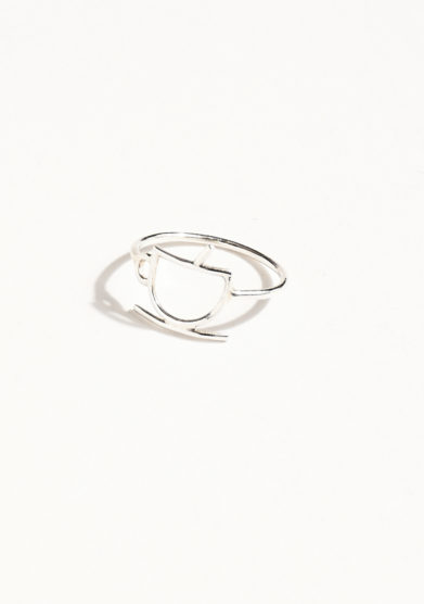 THIN THINGS - Silver coffee cup ring