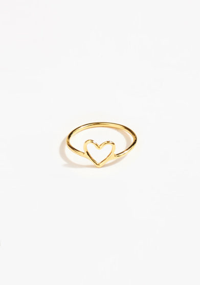 THIN THINGS - Gold heart ring