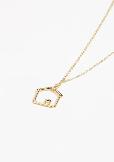 THIN THINGS - Gold home pendant necklace