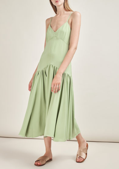 CAFTANII FIRENZE - Maya silk couture midi dress