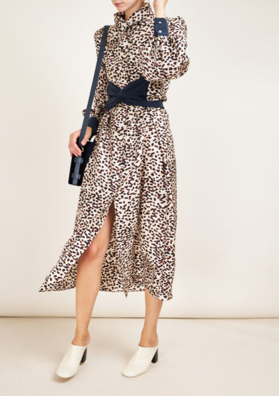 LE VERNISSE - Desert animalier Giraffe dress