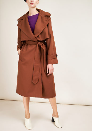 G.A.N. - Brown wool mix trench