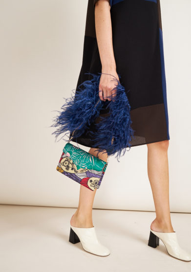 MANTERO 1902- Mini Clutch The Lounge blue