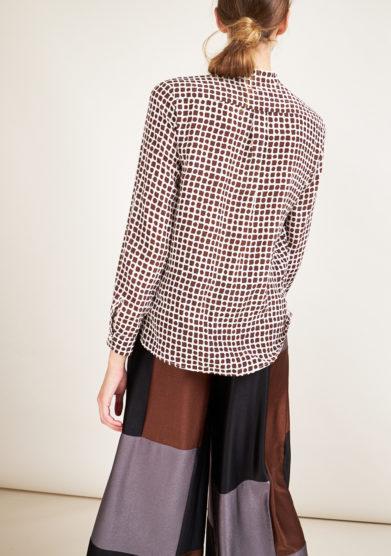 CARLOTTA CANEPA - Printed Carre silk shirt
