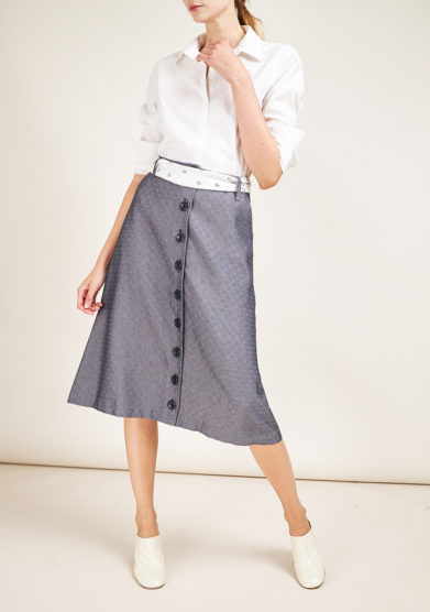 CARLOTTA CANEPA - Midi cotton skirt with buttons