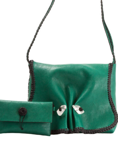 IACOBELLA - Crossbody Hydra emerald green in suede