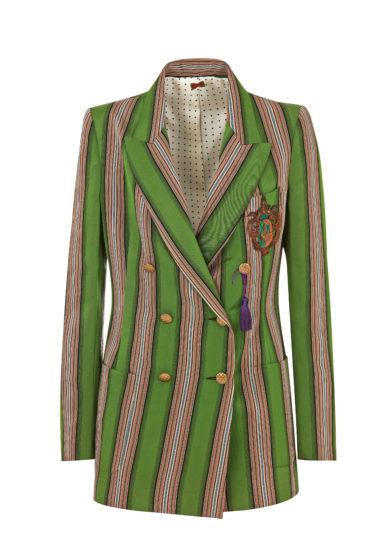 Nasco unico tuxedo righe verdi stemma antico