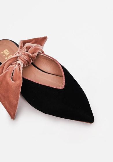 GIA COUTURE - Bandana Girl pumps in black velvet