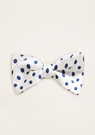 VERNISSE - Sandy hairbow in satin pois